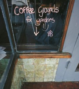 Clean Slate café in Katoomba, where they put coffee grounds out for people to use on their gardens. Photo: Erland Howden