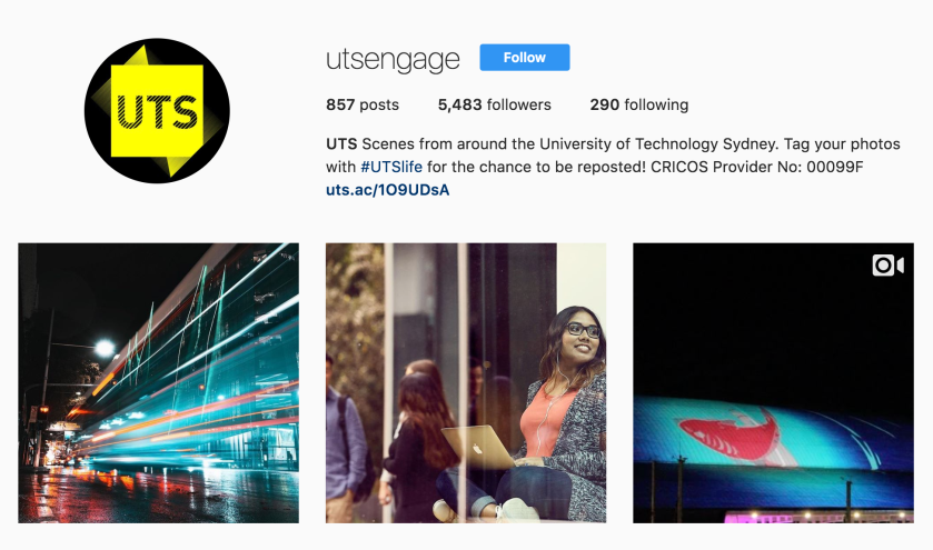 utsengage instagram